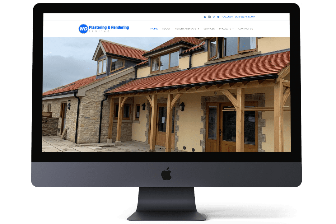 W D Plastering & Rendering Limited website designed by LS25 Web Design